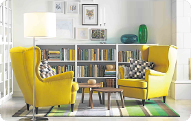 IKEA UK - Yellow Armchairs